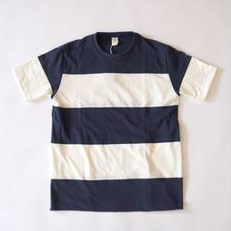 Jackman(ジャックマン) / 4seam Boeder T-Shirt  navy×Off White