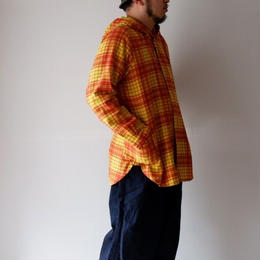 BRU NA BOINNE (ブルーナボイン) /ウォンドパーカーシャツ オレンジ