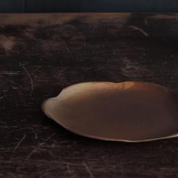 中村友美 真鍮折皿 六角 小