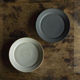 安藤由香 リム皿5寸 ネイビー・ブルーグレー