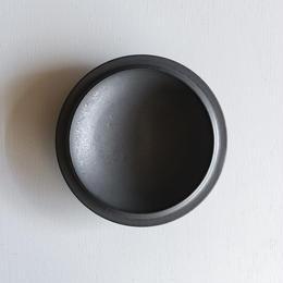 船串篤司 黒釉プレートround 18φ
