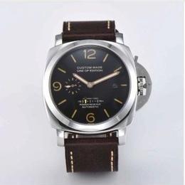 Parnis メンズ 自動巻腕時計 47mm レザーストラップ シーガルムーブ