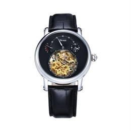 NESUN 自動巻き 機械式腕時計 メンズ トゥールビヨン サファイアクリスタル レザーストラップ