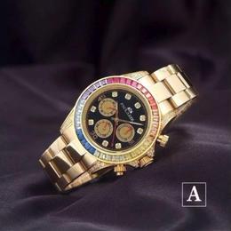 PAULAREIS 自動巻き 機械式腕時計 レインボーダイヤモンド ステンレス