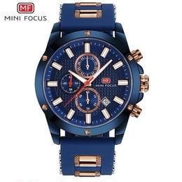 Minifocus クォーツ腕時計 ラバーストラップ スポーツ メンズ カラバリ4色