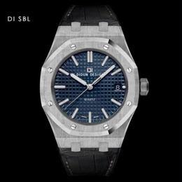 DIDUN DESIGN 腕時計 クォーツ レザーストラップ メンズ カラバリ12色