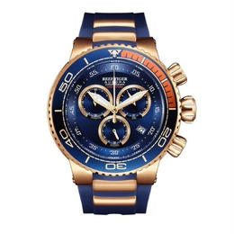 Reef Tiger オーロラグランドオーシャン メンズ クォーツ腕時計
