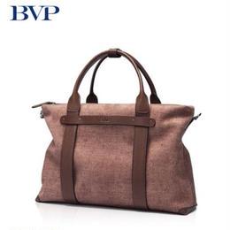 BVP メンズ 牛革ブリーフケース ビジネスバッグ メッセンジャーバッグ トラベル ブラウン 14インチPC対応