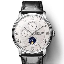 LOBINNI メンズ 自動巻腕時計 シーガルムーブ搭載 サファイア風防 39.5mm 裏スケ