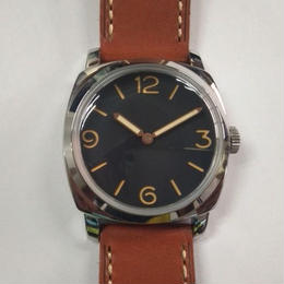 Parnis 手巻き 機械式腕時計 メンズ ミリタリー 47mm