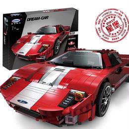 レゴ(LEGO)互換 フォード GT風 moc ブロックキット Xingbao 03011