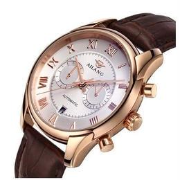 フィフティーシックス風 メンズ 腕時計 自動巻 機械式 ビジネス レザーストラップ