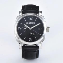 Parnis 自動巻腕時計 44mm パワーリザーブ スモールセコンド ブラックダイヤル