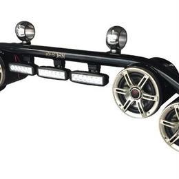 Reborn ウェイクボード スピーカー×4 LEDライト コンボ ブラックコーティング