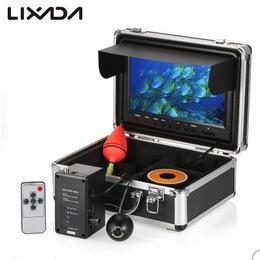 Lixada 防水1000tvl HD魚群探知機 9カラー液晶大画面モニター 30mケーブル USプラグ