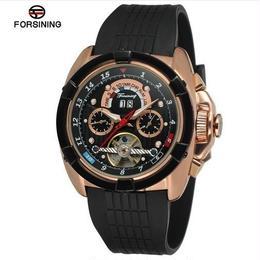 Forsining メンズ 機械式 自動巻腕時計 ラバーストラップ 50mm