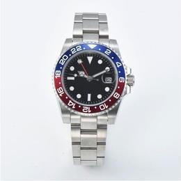 GMT ペプシベゼル 日本ミヨタムーブ搭載 メンズ腕時計 自動巻 機械式 40mm