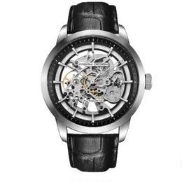 PAGANI DESIGN メンズ 自動巻腕時計 スケルトン 43mm レザーバンド