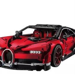 レゴ互換 ブガッティ・シロン風 42083相当 レッド オレンジ  ハイパーカー スーパーカー ビルディングブロック