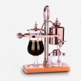 お洒落なティータイムに コーヒーメーカー サイフォン式 コーヒーマシン ベルギー  ローズゴールド/ゴールド/シルバー