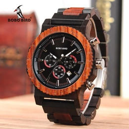 BOBO BIRD 51mmのビッグフェイスモデル メンズ クォーツ腕時計