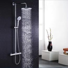 浴室シャワーセット シャワーヘッド ホース クロームメッキ 壁掛け 高級 サーモスタット ステンレス