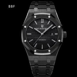 [NEWカラー] DIDUN DESIGN 自動巻 機械式腕時計 メンズ ブラック