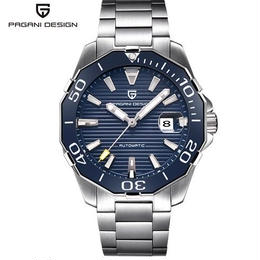 Pagani design 自動巻き 機械式腕時計 メンズ ステンレスストラップ