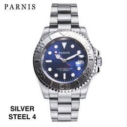 Parnis 自動巻 機械式腕時計 メンズ 5気圧防水 ステンレス サファイアクリスタル