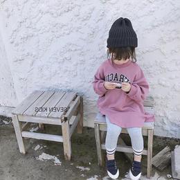 kids スウェットロゴワンピース(595)