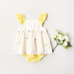 レモン刺繍ロンパース(399)