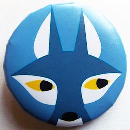 フォックスブルー缶バッチ(ピットアニマル)