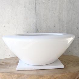 植木鉢 白  no.002