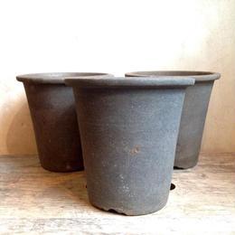 丹波鉢  デッドストック 黒  φ12.5cm