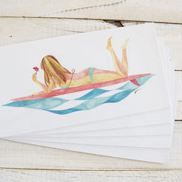 SURF GIRL sticker