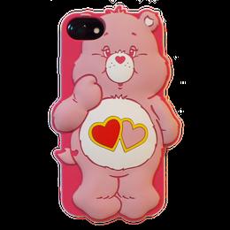 Care bears シリコンケース ラブアロットベア♥for iPhone8/7/6s/6