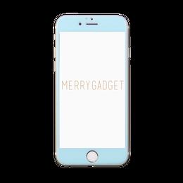 9Hガラスフィルム PASTEL BLUE for iPhone6s/6専用♡MERRYGADGET
