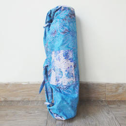 ヨガバッグ コットン薄手 ポピー・イン・ブルー [YB.01-POPPY IN BLUE]