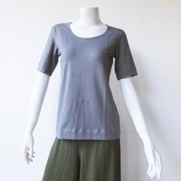 Tシャツショートスリーブ コットンスパンデックス薄手 スモーク[YT.31CL/L-SMOKE]