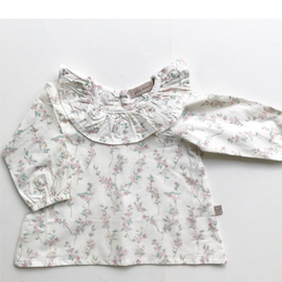 last 1 【juliedausell】Blouse - Clair - white with flower pattern