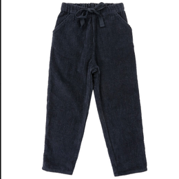 【 little cotton clothes 】tenby trousers - slate chunky cord