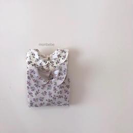 【monbebe】round collar floral tops
