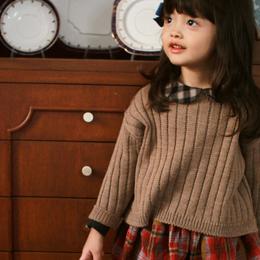 【mardi amber 】soft  rib knit pullover
