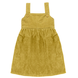 【little cotton clothes】TABITHA  PINAFORE  MUSTARD  CHUNKY CORD