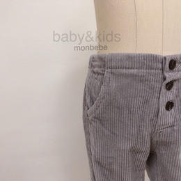 【monbebe】corduroy pants light gray