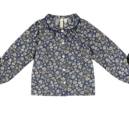 last1【little cotton clothes 】annie blouse blue floral