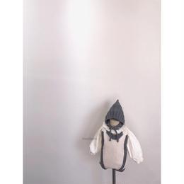 【monbebe】bicolor knit romper