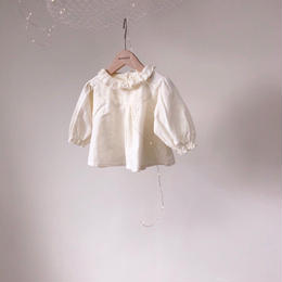 【monbebe】frill  collar blouse  3 colors