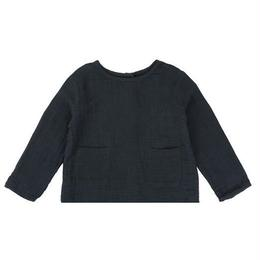 last 1【little cotton clothes 】ST IVES TOP - SLATE MUSLIN