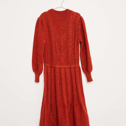 last 1【fish&kids】KIDS KNITTED VICTORIAN DRESS 2color